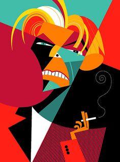 David Bowie Artist: Pablo Lobato website: http://lobaton.wordpress.com/