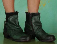 Schuhe, Mel, rug-oil-suede-green