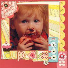 Cupcake Day - Scrapbook.com - #scrapbooking #layouts