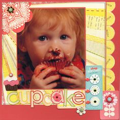 Cupcake Day - Scrapbook.com - #scrapbooking #layouts