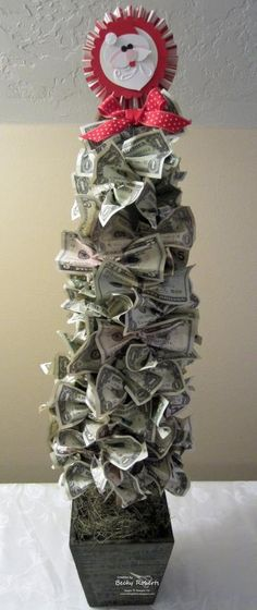 I would like one made from Canadian 10, 20, 50 and 100 dollar bills - the colours would look great.