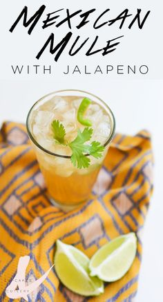 This refreshing Mexican Mule cocktail has a spicy kick! It's the perfect drink on a warm day.