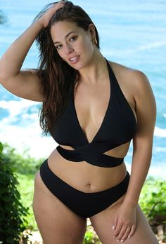Try out the Ashley Graham x Swimsuits For All Ambassador Black Wrap Halter Bikini and more at Swimsuits for All! From stylish tankinis to classic bikinis, we've got what you're looking for. Modelo Ashley Graham, Swimsuits For All, Plus Size Swimsuits, Two Piece Swimsuits, Big Girl Fashion, Curvy Fashion, Women's Fashion, Trendy Swimwear, Curvy Swimwear