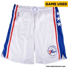 bab7b34aa11 Shawn Long Philadelphia 76ers Fanatics Authentic Game-Used  36 White Shorts  from the 2016
