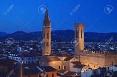 http://www.123rf.com/photo_41605041_bell-tower-of-the-badia-fiorentina-and-bargello-palace-at-night-florence-italy.html