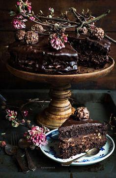 ferrero rocher cake.......bloody hell!!!!