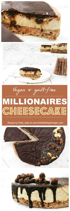 Vegan millionaires cheesecake, made with natural sugars! Honestly delicious, if you like shortbread & caramel, you will LOVE this recipe! plus is guilt-free! Whats not to love?!