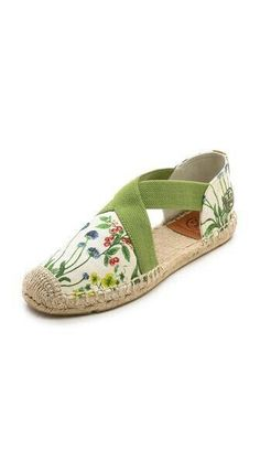 Tory Burch Catalina Espadrilles - maybe without the flowersBima Gold Espadrille and other Women's Shoes by Tory Burch and other footwear designers for sale online. Ella Shoes, Espadrilles, Creative Shoes, Crochet Shoes, Slingback Sandal, Wedge Sandals, Pretty Shoes, High Heel Boots, Summer Shoes