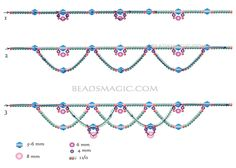 Free pattern for beaded necklace Winter | Beads Magic