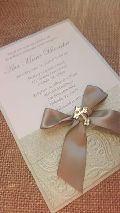 12x First Holy Communion Invitations by MyPrettyLittleParty