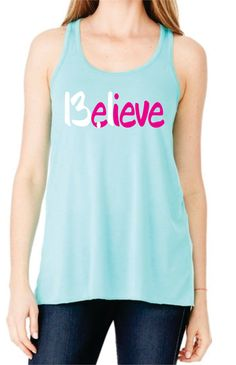 Believe 13.1 Half Marathon Running Flowy Racerback  TankTop Super Comfy Gift Unique Best Great Tank Top Running Workout, Many Colors by SuperTeesandHats on Etsy