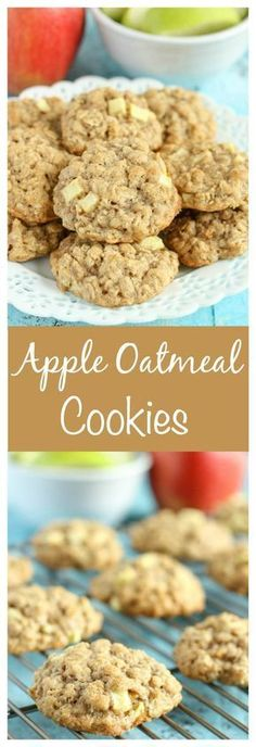 These thick, soft, and chewy apple oatmeal cookies are guaranteed to be your new favorite cookie for fall!...