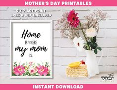 Mother's Day Bundle - Mother's Day Printable - Mother's Day Cards - Mom's Day - Happy Mother's Day - Gifts for Mom, Gifts for Mum Mothers Day Cards, Happy Mothers Day, Mother's Day Printables, Mother's Day Greeting Cards, Pastel Flowers, Mom Day, Gifts For Mum, Art Prints, Unique Jewelry