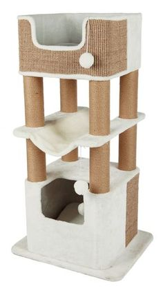 The Lucano Cat Playground is ideal for multiple large cats. This multi-level cat playground has beds with durable, natural sisal exteriors. Large Cat Tree, Cat Stairs, Cat Perch, Cat Towers, Sisal Rope, Cat Scratching Post, Cat Condo, Cat Furniture, Furniture Stores