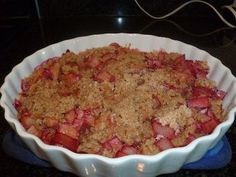 The old-fashioned fruit crisp has become my last-minute special--chopped up during dinner preparations and put in the oven before we sit down to eat. See recipe.
