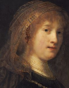 Rembrandt Harmensz van Rijn, Portrait of Saskia van Uylenburgh, Amsterdam Museum, Amsterdam, The Netherlands Oil Portrait, Rembrandt Portrait, Rembrandt Paintings, Dutch Golden Age, Dutch Painters, Dutch Artists, True Art, Chiaroscuro, Renaissance Art