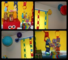 Sesame Street, Elmo, Big Bird, Cookie Monster, Party Decorations, Birthday Decorations...paper chains are cute and inexpensive decorations