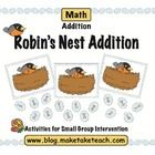 Your students will love this sweet little seasonal math activity.  The goal is to be the first player to fill their robin's nest with eggs.  This a...