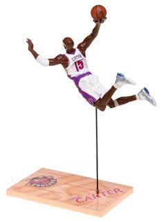 McFarlane Toys NBA Sports Picks Series 1 Action Figure Vince Carter (Toronto Raptors) White Jersey - http://bignbastore.com/nba-accessories/nba-toys/mcfarlane-toys-nba-sports-picks-series-1-action-figure-vince-carter-toronto-raptors-white-jersey