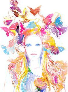 Watercolor Print Print of Watercolor Fashion door silverridgestudio