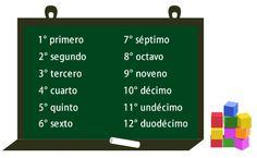 Rangtelwoorden – Los números ordinales Eerste, tweede, derde etc. tot en met twaalfde Getallen leren in het Spaans kun je hier!