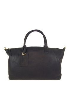 105c79277a Roll Top Weekender ~ in leather navy   charcoal