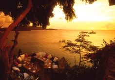 Dinner at Sunset - Necker Island, British Virgin Islands - The island is owned by Richard Branson