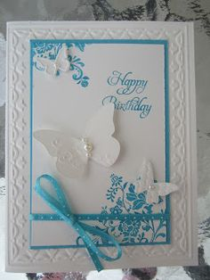 SU Fresh Vintage. Do not have the frame embossing folder - use a double scored line around the outside of the mat instead.