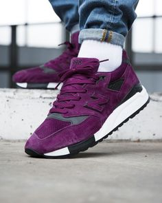 "New Balance M998CM ""Made in USA"" Purple New Balance, Men's Shoes, Shoe Boots, Streetwear Shoes, Purple Nikes, Purple Love, Latest Shoe Trends, Comfy Shoes, Shoe Closet"