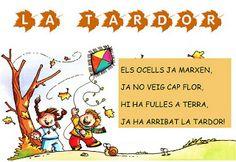 Material d'infantil: Poema de la tardor Class Decoration, Valencia, Arts And Crafts, Education, School, Comics, Infants, Halloween, Autumn Trees