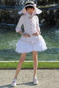 Chanel 2013 Resort Wear, Carolina Thaler. Really love the whimsical nature of this year's look. Don't know about the shoes, however.