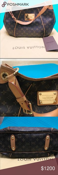 Louis Vuitton Galleria MM Authentic Monogram Galleria, in excellent used condition. Beautiful bag and a great size for everyday use. I was torn which bag I wanted to keep the GM or this MM, they are both fabulous but I carry my iPad so the GM works best for me. Louis Vuitton Bags Shoulder Bags