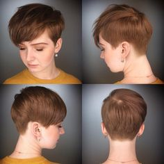 """489 curtidas, 19 comentários - Hairstylist In Waterloo, ON (@courtneyxcentrichair) no Instagram: """"The full view of Sarah's cut from my previous post. Does anyone else find this super tempting to go…"""""""