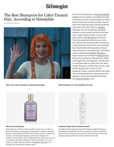 Christine talks shop with NY Mag re Hair-color home-care. Salon Business, Best Shampoos, Your Hair, Hair Color, Shop, Haircolor, Hair Dye
