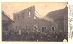 In this picture a mob poses outside a black-owned, burned newspaper building on the first day of the Wilmington insurrection of 1898. Lasting several days, the Insurrection was initiated by a white supremacist mob of about 2k, who illegally overthrew the elected local government, making it the only coup d'état in American history...
