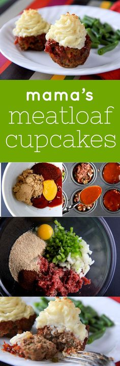 Mama's Meatloaf Cupcakes Click through for this amazing recipe! Sure to be a dinner family pleaser!!