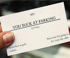 You Suck At Parking Business Cards