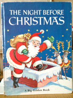 Vintage Christmas Book - The Night Before Christmas by Clement C. Moore, Corrine Malvern - Retro Christmas - Holiday Books by StrikingThirteen on Etsy Old Christmas, The Night Before Christmas, Christmas Books, A Christmas Story, Christmas Pictures, Vintage Christmas, Christmas Ideas, Christmas Fairy, Vintage Santas