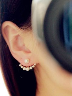 Pristine Pearson Pearl Two-Way Earrings #Fashion #Jewelry #Pearls