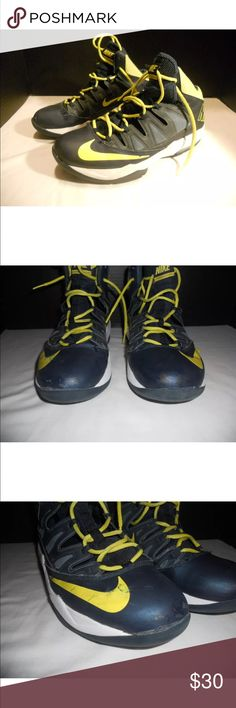 Nike Max Air Stutter Steps Blue Yellow Mens Size 9 Nike Max Air Stutter Steps High Top Shoes Blue and Yellow Mens Size 9. Shoes are in really nice condition, show some wear but no major damage. Nike Shoes Sneakers
