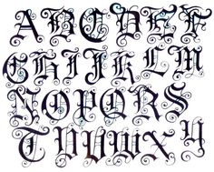 Images For > Letters Design Tattoo