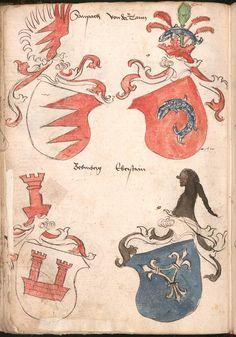 Wernigeroder (Schaffhausensches) Wappenbuch Süddeutschland, 4. Viertel 15. Jh. Cod.icon. 308 n  Folio 231v