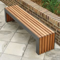 Plaza I Bench | Contemporary Street Furniture | Broxap