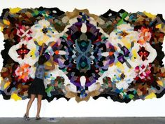 Artist Decapitates Recycled Stuffed Toys to Make Stunning, Psychedelic Rugs