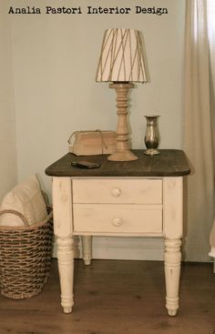 farmhouse style distressed antique white coffee table.analia