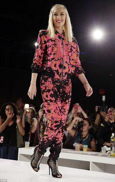 Gwen Stefani marks her return to New York Fashion Week with L.A.M.B. #dailymail