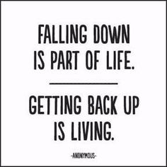 """""""Falling down is part of life. Getting back up is living."""" - Anonymous Extra postage required. Measures 5"""" x 5"""". All quotable cards and envelopes are printed on 100% post consumer recycled paper."""