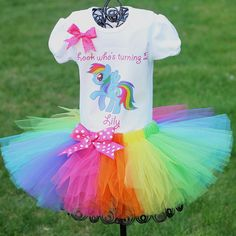 My Little Pony Tutu Outfit Birthday Outfit by TwistinTwirlinTutus, $44.99