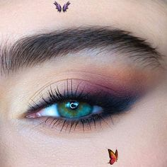 #eyeshadow makeup tutorial for green eyes #eyeshadow makeup lessons #eyeshadow m<br> Makeup Lessons, Dark Lips, Eyeshadow Makeup, Green Eyes, New Trends, Makeup Ideas, Eyebrows, Lipstick, Makeup Classes