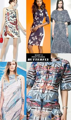 trends and print stories from resort 15 runways featuring daisies, flower power and bohemian prints and patterns. Trends 2015 2016, 2015 Fashion Trends, Ss15 Prints, Trend Forecast 2018, Big Dresses, Textiles, Resort 2015, Trend News, Ss 15